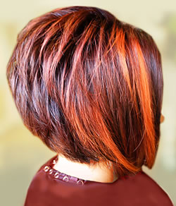 Hair color highlighting